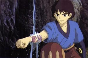 ashitaka et son bras frappé par la malédiction