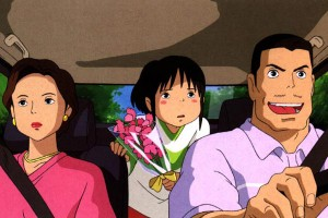 chihiro avec ses parents
