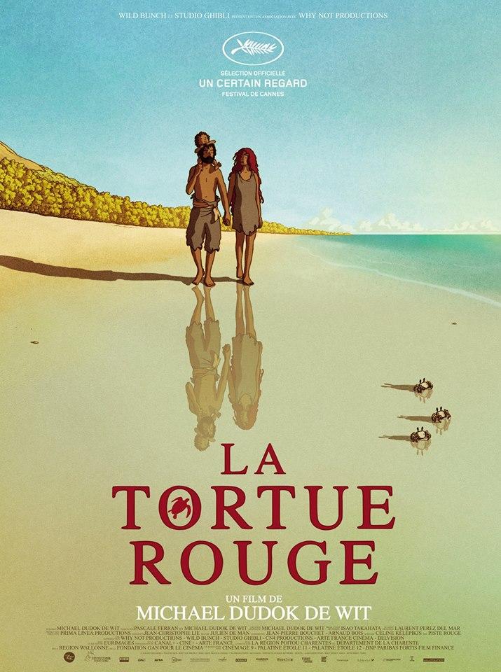 affiche - poster la tortue rouge