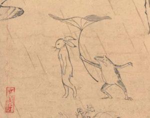 plus-vieux-manga-du-monde-ghibli-grenouille-lapin