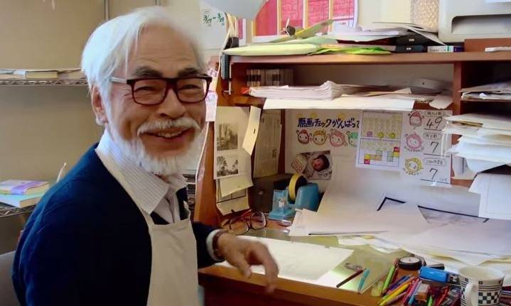 Miyazaki qui travaille