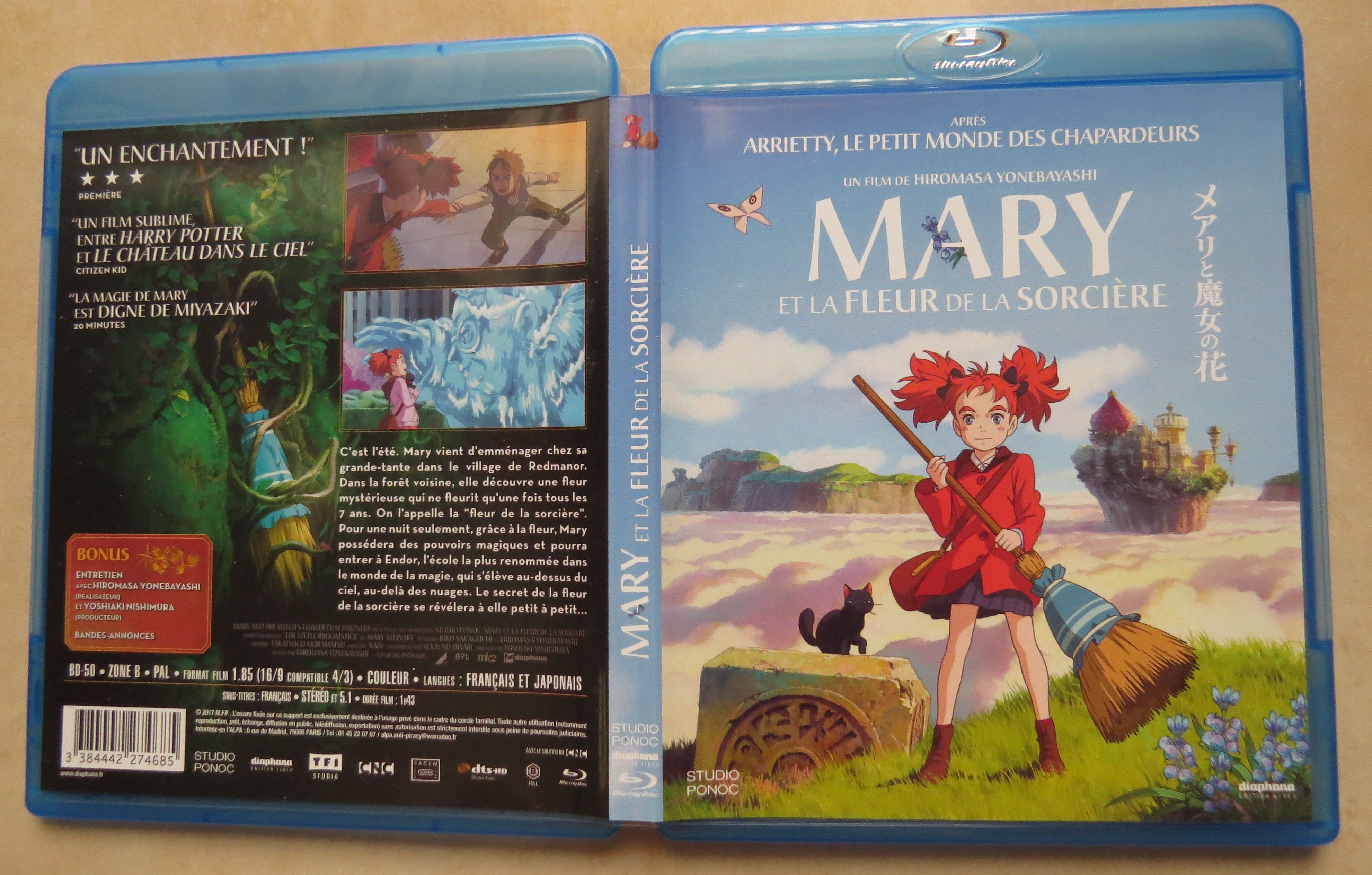 Test Blu-ray du film Mary et la fleur de la sorcière