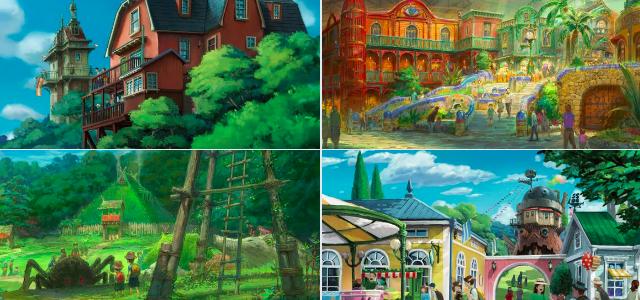5 zones thématiques pour le futur parc Ghibli